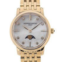 Frederique Constant Slim Line Moon Phase Gold Plated Strap...