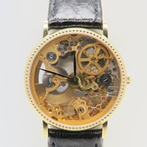 Universal Genève Skeleton 18k Yellow Gold Auto Rare Watch Full...