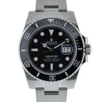 Rolex Oyter Perpetual Submariner Stainless Steel Ceramic Bezel...