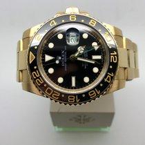 Rolex GMT-Master II Yellow Gold Black Dial 116718 B&P