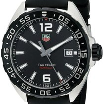 TAG Heuer Formula 1 Black Dial Black Rubber Band Men Steel...