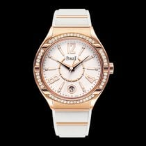 Piaget Polo Lady Forty Five with Diamond Bezel - Rose Gold on...