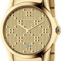 Gucci G-Timeless Small Quartz PVD Yellow Gold Case R