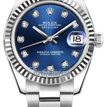 Rolex Datejust 31mm Stainless Steel 178274 Blue Diamond Oyster