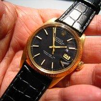 Rolex 1607 super rare 18k Black DateJust  fullset b&p '70