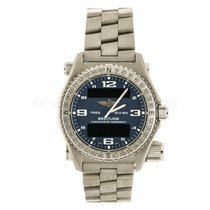 Breitling Emergency Titainum Digital Analog Watch E76321...