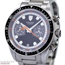 Tudor Heritage Chronograph Ref-70330N Stainless Steel Box...