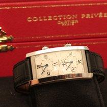 Cartier tank cintrèe dual time collection privèe 100 pz white...