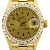 Rolex Presidential Datejust Ladies' 26mm Yellow Dial Gold...
