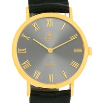 Rolex Cellini Classic 18k Yellow Gold Slate Roman Dial Watch 4112