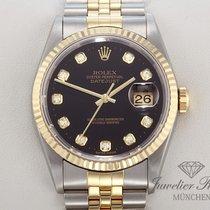 Rolex Datejust 16233 Stahl Gold 750 Diamanten Automatik Date Just