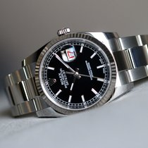 Rolex Oyster Perpetual Datejust 36mm black index dial