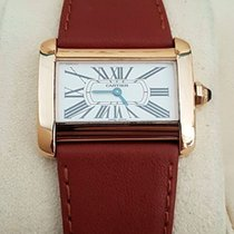 Cartier Divan Lady Watch Yellow Gold 18 krt (Full Set 2004)