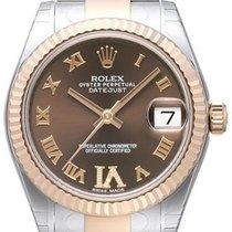 Rolex Datejust 31 Edelstahl Everose Oyster-Band Choco R Dia
