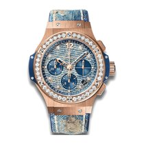 Hublot Big Bang Jeans 41mm Automatic 18K Rose Gold Mens Watch...