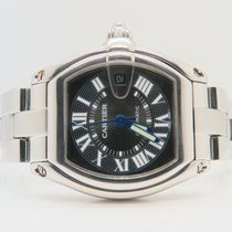Cartier Roadster 37mm Steel Blue Hands (Extra Leather Strap)