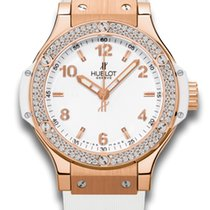 Hublot Big Bang Quartz Gold White 38mm Ladies