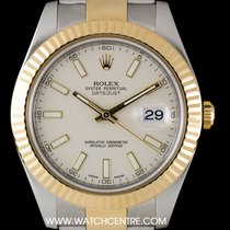 Rolex S/Steel & 18k Y/Gold O/P Ivory Dial Datejust II...
