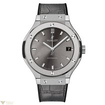 Hublot Classic Fusion Automatic Titanium Racing Grey Leather...