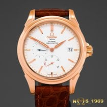 Omega De Ville Co Axial Power Reserve 18K Rose Gold Box...