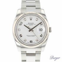 Rolex Oyster Perpetual Date 34 Fluted With Diamonds