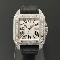 Cartier Santos 100 Steel Diamonds