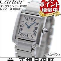 カルティエ (Cartier)  【カルティエ】タンクフランセーズSM レディース 腕時計クォーツ ステンレス シルバー 【...