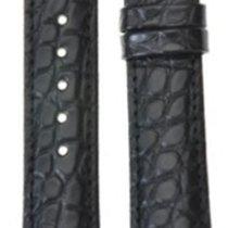 Hirsch Uhrenarmband Regent Alligator schwarz matt L 04107059-2...