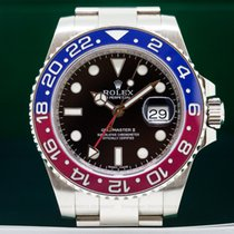 ロレックス (Rolex) 116719BLRO GMT Master II Blue / Red 18K White...