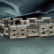 Cartier 1920s PLATINUM ONYX & DIAMOND LADIES WATCH