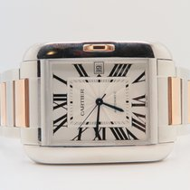 Cartier Tank Anglaise XL 18k Rose Steel 48mm Ref. 3507