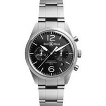 Bell & Ross Vintage Officer Black Dial Automatic Men's...