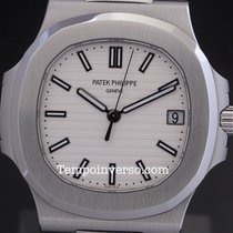 Patek Philippe Nautilus jumbo white dial full set LNIB