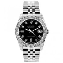 Rolex Datejust Ladies' 26mm Black Champagne Dial Stainless...