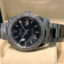 ロレックス (Rolex) Oyster Datejust Steel Diamond Bezel 36 mm Full...