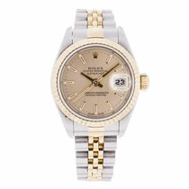 Rolex Datejust Ladies Steel and Gold Salmon Dial Watch...