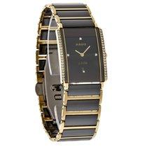 Rado Integral Ladies Diamond Black Ceramic Gold Swiss Watch...
