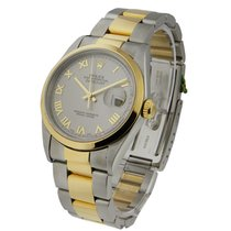 Rolex Used 16203 Mens 2-Tone Datejust with Oyster Bracelet -...