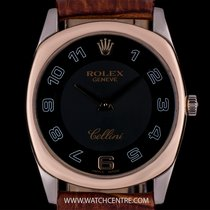 ロレックス (Rolex) 18k White Gold & Rose Gold Black Dial...