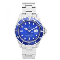 Rolex Submariner Custom Blue Dial & Bezel Men's Steel...