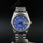 Rolex Datejust 36 mm dial Sodalite Diamonds  Full Set