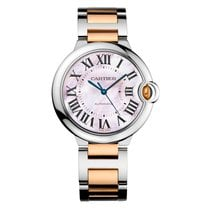 Cartier Ballon Bleu 36mm Steel & 18K Rose Gold Pink MOP