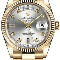 Ρολεξ (Rolex) Day-Date 36mm Yellow Gold Fluted Bezel 118238...