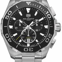 Ταγκ Χόιερ (TAG Heuer) AQUARACER CHRONOGRAPH Steel Black...