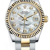 Rolex New Style Datejust Midsize Two Tone Custom Fluted Bezel...