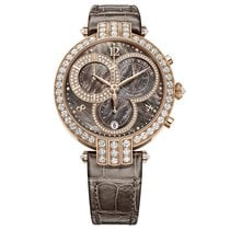 Harry Winston Premier Chronograph Mother of Pear Diamonds Watch