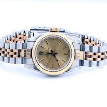 Rolex Ladies 2tone Oyster Perpetual Watch - Champagne Stick...
