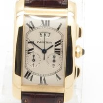 Cartier Tank Americaine Chronograph Solid 18k Yellow Gold Ref...
