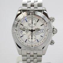 Breitling Chronomat Evolution Silver Dial Chronograph A13356