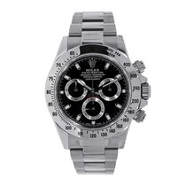 롤렉스 (Rolex) DAYTONA Stainless Steel Watch Black Dial